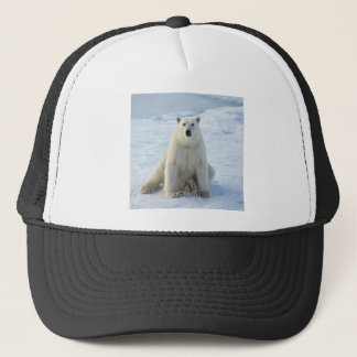 Sitting Pretty Polar Bear Trucker Hat