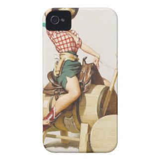 Sitting Pretty Western Pin Up Girl Retro Art Blackberry Cases