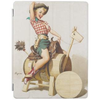 Sitting Pretty Western Pin Up Girl ~ Retro Art iPad Cover