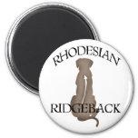 Sitting Rhodesian Ridgeback w/ Text Magnets