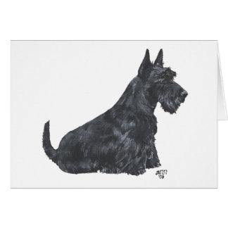 Sitting Scottish Terrier Greeting Card