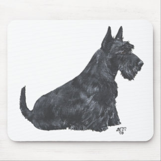 Sitting Scottish Terrier Mouse Pad