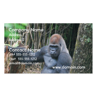 Sitting Silverback Gorilla  Business Cards
