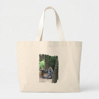 Sitting Silverback Gorilla  Canvas Bag