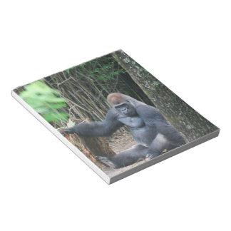 Sitting Silverback Gorilla  Notepad