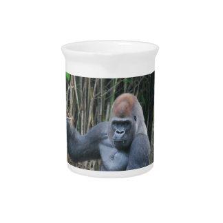Sitting Silverback Gorilla  Pitcher