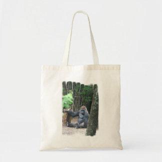 Sitting Silverback Gorilla  Small Tote Bag