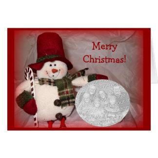 Sitting Snowman Card