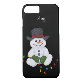 Sitting Snowman iPhone 7 Case