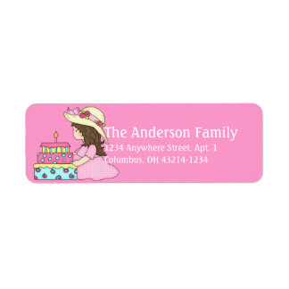 Sitting Suzie Birthday Girl Address Labels d1