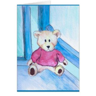 Sitting Teddy notecard
