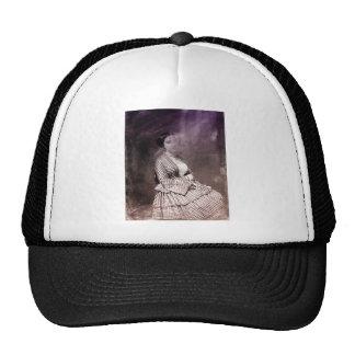 Sitting Victorian Woman Trucker Hat