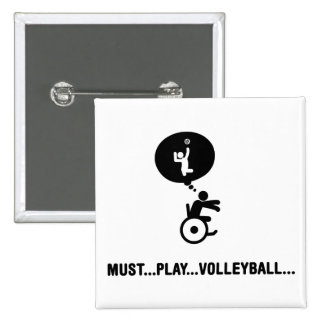Sitting Volleyball Buttons