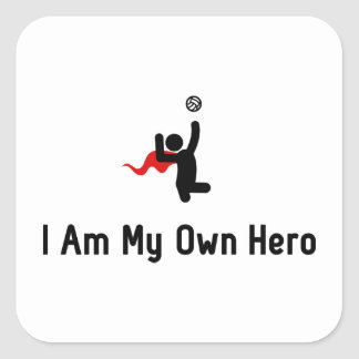 Sitting Volleyball Hero Square Sticker
