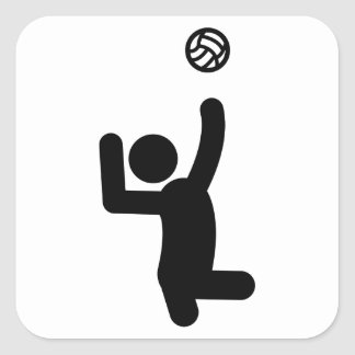 Sitting Volleyball Square Sticker