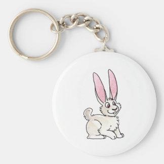 Sitting White Rabbit Keychain