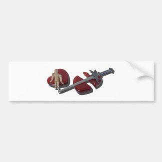 SittingOnBrokenHeartSword012915 Bumper Sticker