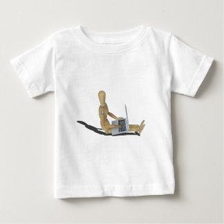 SittingOnFloorWithLaptop012915 Baby T-Shirt