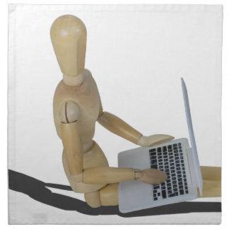 SittingOnFloorWithLaptop012915 Cloth Napkin
