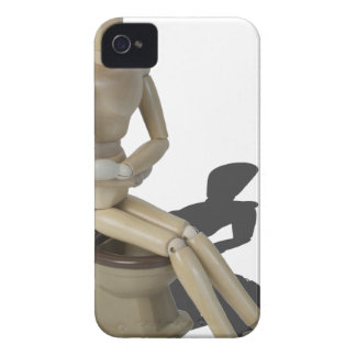 SittingOnToiletWithPain082414 copy iPhone 4 Case