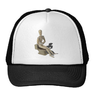 SittingOnToiletWithPain082414 copy Trucker Hat