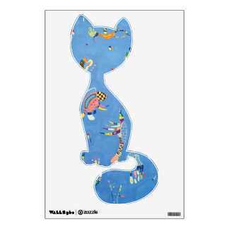 Sitty Cat with Sky Blue Wall Decal