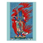 Situación budista mitológica en la pequeña isla tarjetas postales