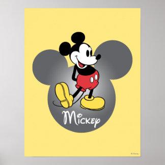 Situación clásica de Mickey el | en cabeza Póster