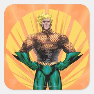 Situación de Aquaman Pegatinas Cuadradases