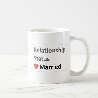 Situación de la relación Casado Taza De Café