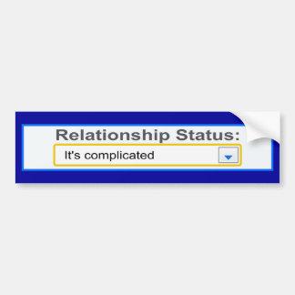 Situación de la relación ha complicado diseño pegatina de parachoque
