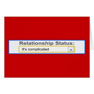 Situación de la relación ha complicado diseño felicitaciones
