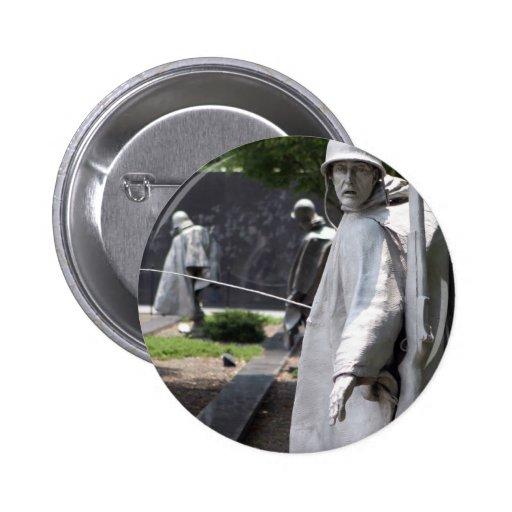Situación de los veteranos del monumento de Guerra Pin Redondo De 2 Pulgadas