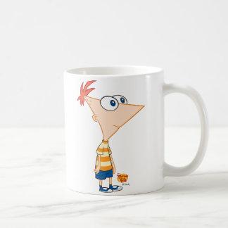 Situación de Phineas y de Ferb Taza Básica Blanca