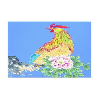 Situación del gallo envuelta lienzo envuelto para galerías