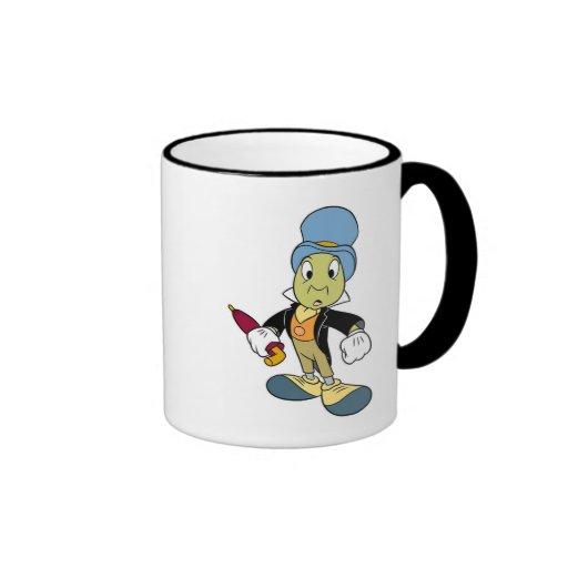 Situación del grillo de Disney Pinocchio Jiminy Taza De Dos Colores