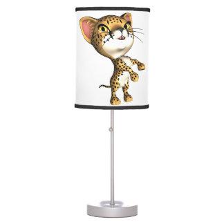 Situación del guepardo lámpara de mesa