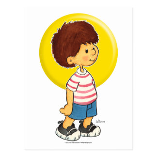 Situación del muchacho tarjetas postales