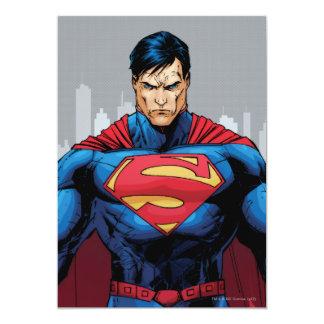 Situación del superhombre invitación 12,7 x 17,8 cm