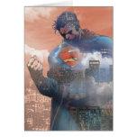 Situación del superhombre tarjeta