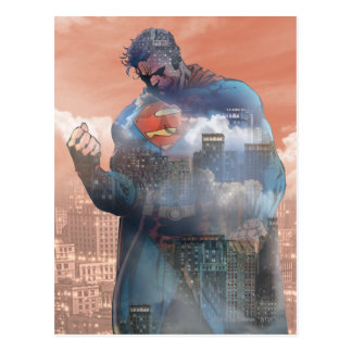 Situación del superhombre tarjeta postal