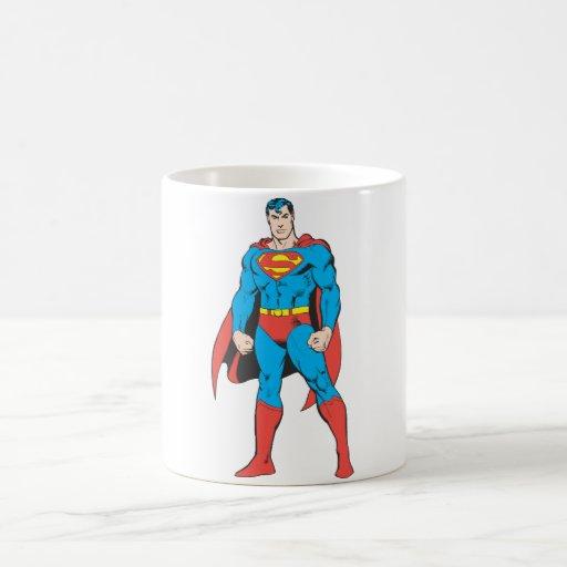 Situación del superhombre taza básica blanca