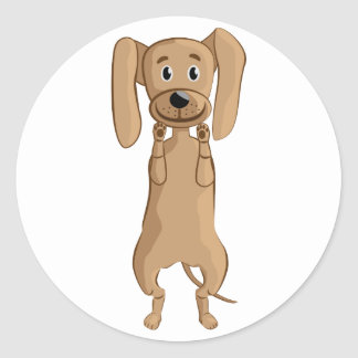 situación divertida del perro etiquetas redondas
