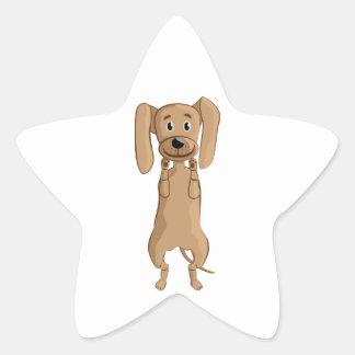 situación divertida del perro calcomanías forma de estrellas personalizadas