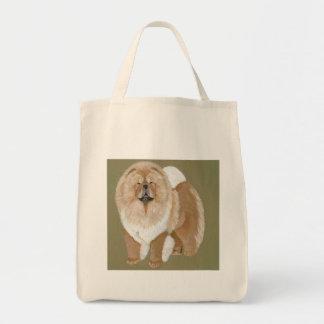 Situación roja del perro chino bolsa tela para la compra