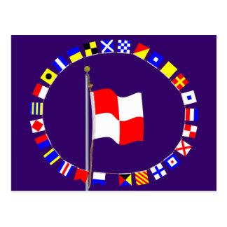 """Situación uniforme en la bandera """"U """" de la eñal Postal"""