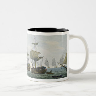 Situation of HMS Temeraire at The Battle of Trafal Coffee Mugs