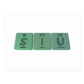 Siu  as Sulfur Iodine Uranium Postcard