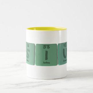 Siu  as Sulfur Iodine Uranium Two-Tone Coffee Mug