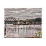 Siuslaw River Bridge Gallery Wrapped Canvas